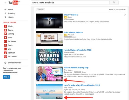youtube views screenshot