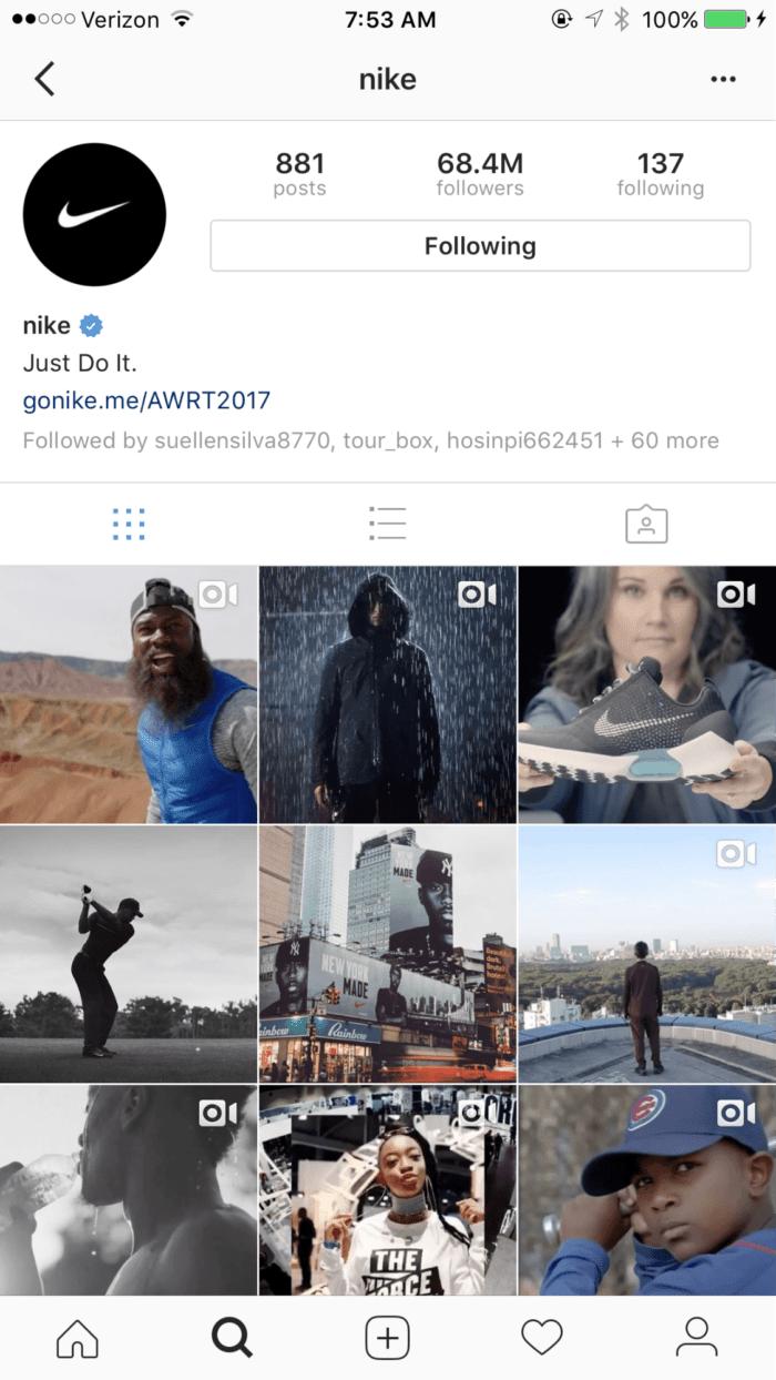 perfil da nike no instagram instagram - image12 10 min 700x1244 - Como Conseguir Seguidores no Instagram (Mais de 300 Seguidores Reais Por Dia!)