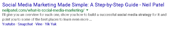 Neil Patel Social Media Marketing meta tag example