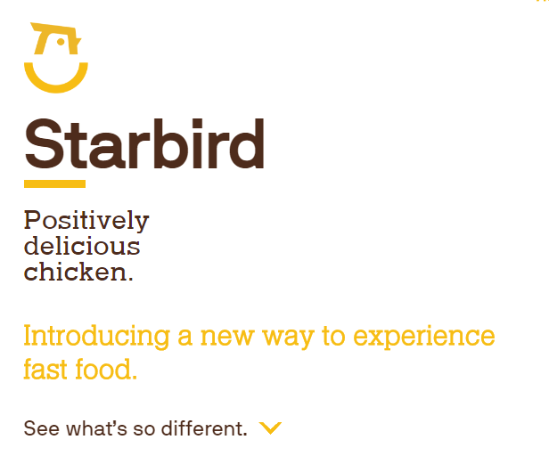 starbird typogrpahy example how to establish website crediblity