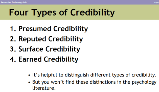 types of credibility: guide to website credibility