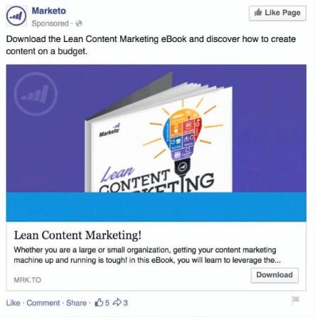 retargeting strategies - marketo example