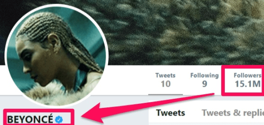 how to get verified on social media Beyoncé example