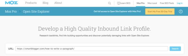 Open Site Explorer Link Research Backlink Checker Moz 2