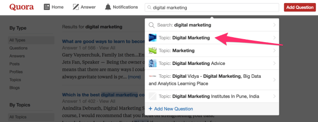 Search digital marketing Quora