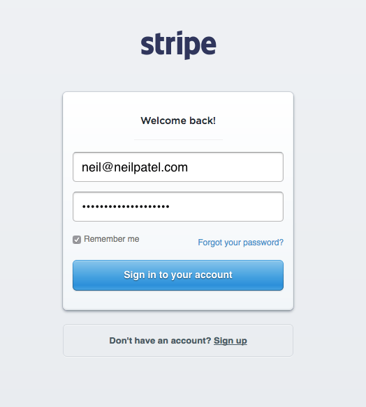 Stripe Login 1