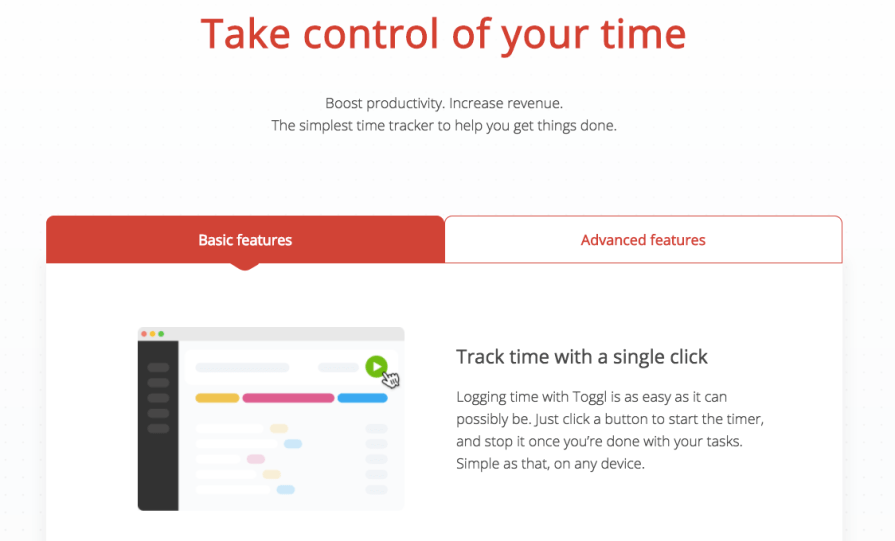 Toggl Features calculate work hours billable hours employee timesheets