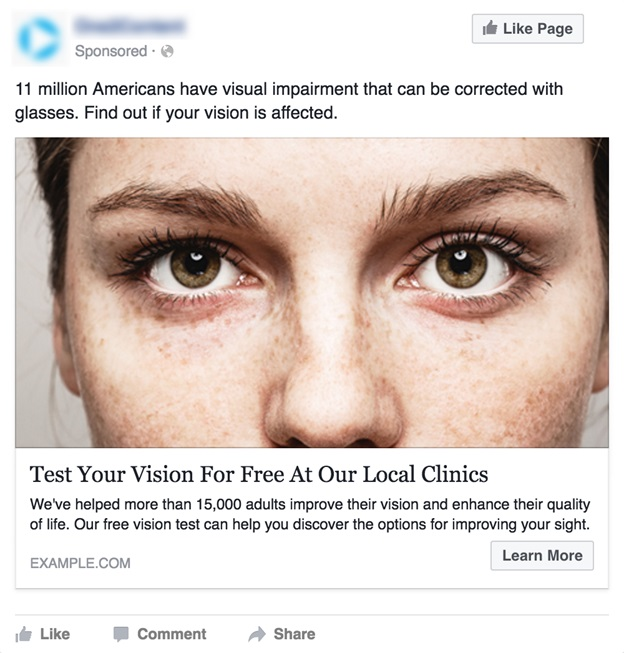 blog facebook target audience ad
