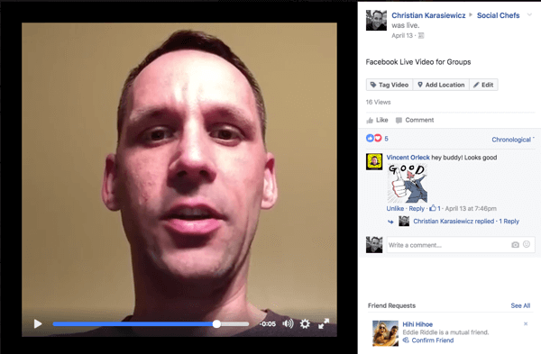 ck facebook live video for groups