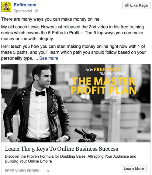 gb facebook ad example