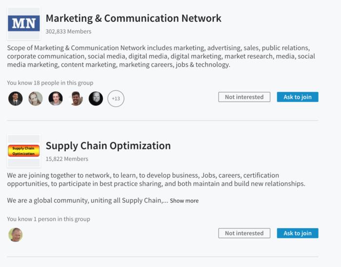social media marketing linkedIn groups