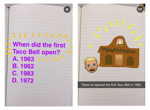 taco bell snap chat trivia contest how to get more snapchat friends
