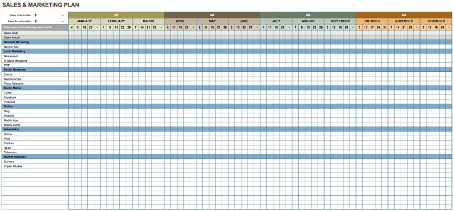 sales and marketing plan template 0