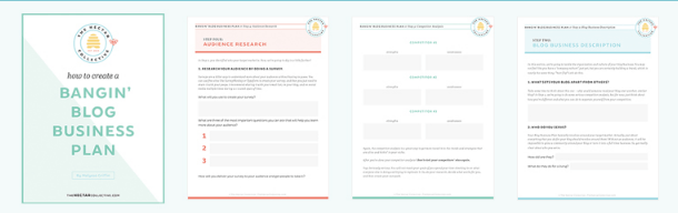 How to Create a Bangin Blog Business Plan Workbook Included Melyssa Griffin