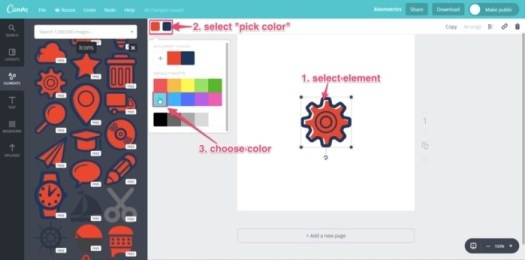 changing color in canva free brand logo