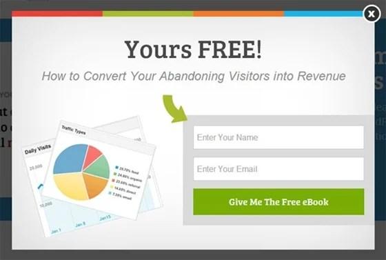 exit popup convert abandoning visitors into revenue