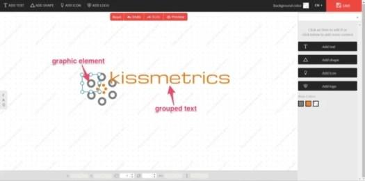 kissmetrics design a free logo example
