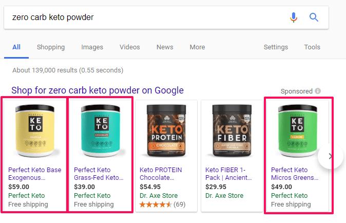 keto search