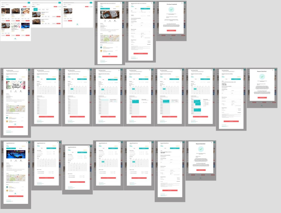 comprehensive wireframe mockup
