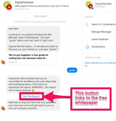 digitalmarketer chatbot