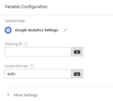 ga settings