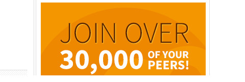 join over 30,000 of your peers social proof