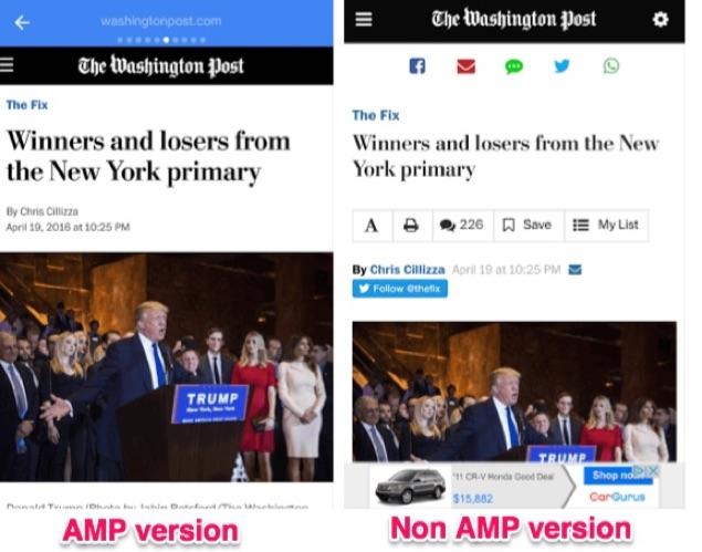 AMP vs non-AMP story