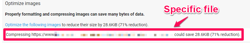 optimize image through pagespeed