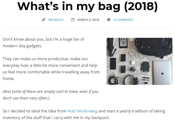 what's in my bag 2018 update