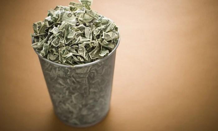 money trash