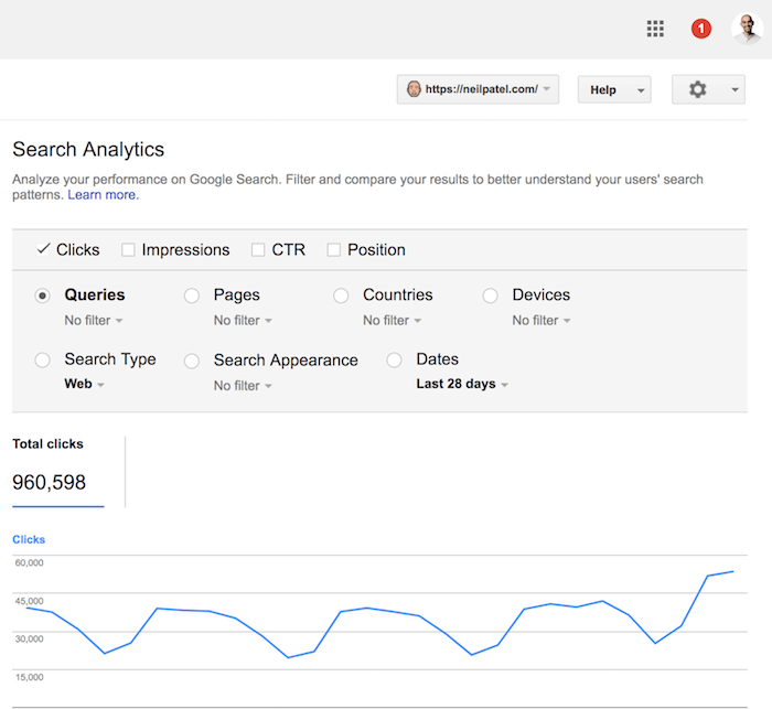 search console queries