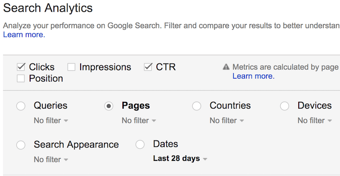 pages nav