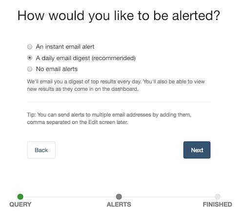 alert emails