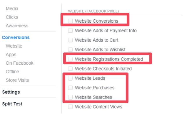 facebook hidden tools ad conversions