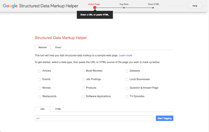 free SEO tool structured data markup