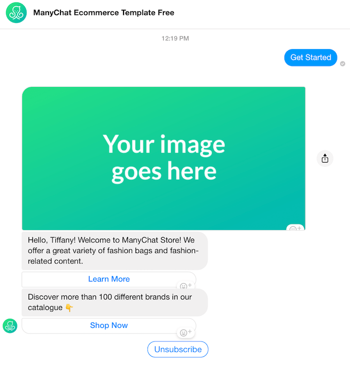 e-commerce chatbot example