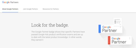google partner badge example