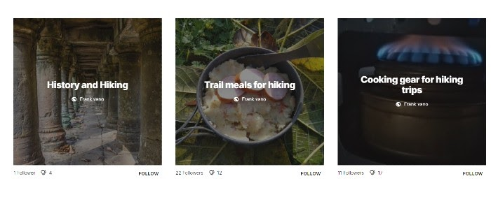 Hiking Content on Google Keen