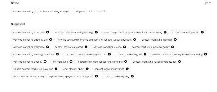 More Keyword Suggestions on Google Keen