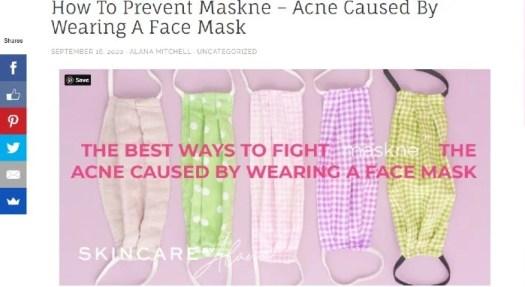 Skincare marketing Skincare by Alana blog post about maskne