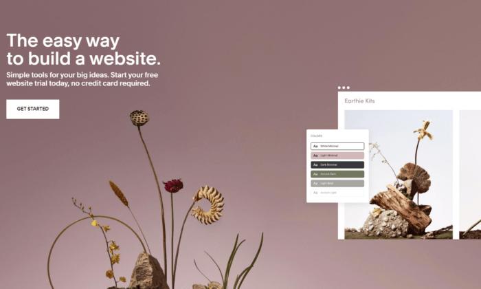 squarespace website design landing page example