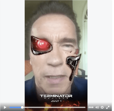 Ways to Use Sponsored Snapchat Filter - Example of Terminator
