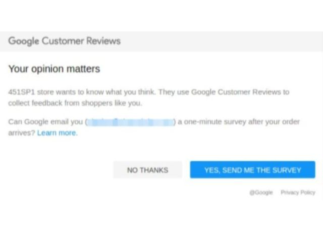 Google trusted stores customer reviews