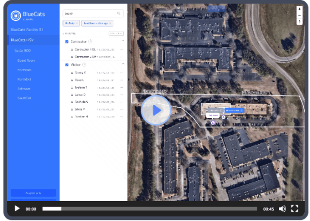 Bluecat shows you beacon coversage areas