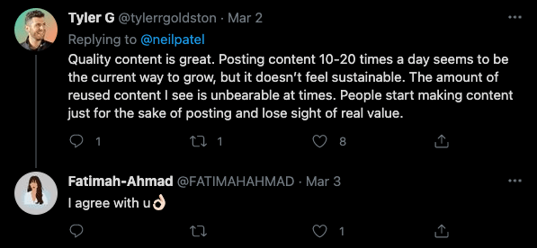 is content king? Twitter commentary