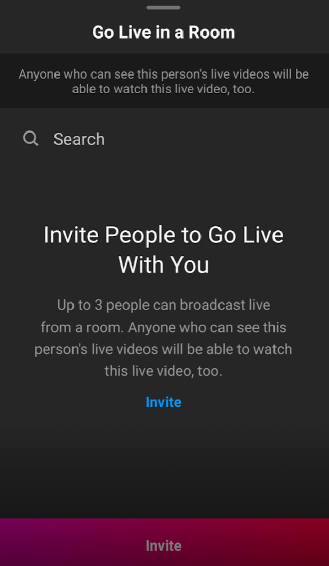 Instagram Live Rooms - invite guests