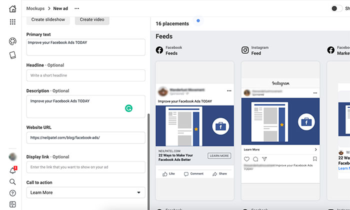 How to Use Facebook Creative Hub - Add Other Basic Details