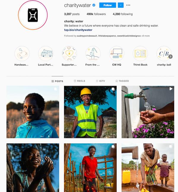 charity water instagram nonprofit marketing