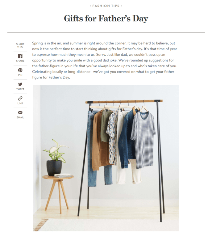 E-commerce Father's Day Sales Examples - Stitch Fix