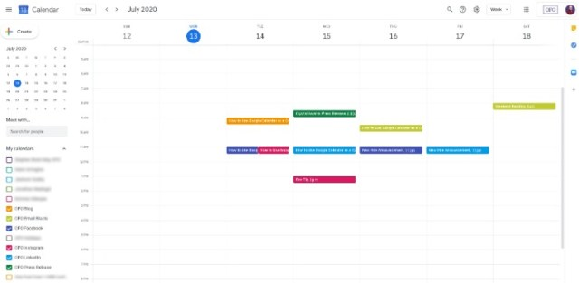How to Create an Editorial Calendar - Schedule the First Month